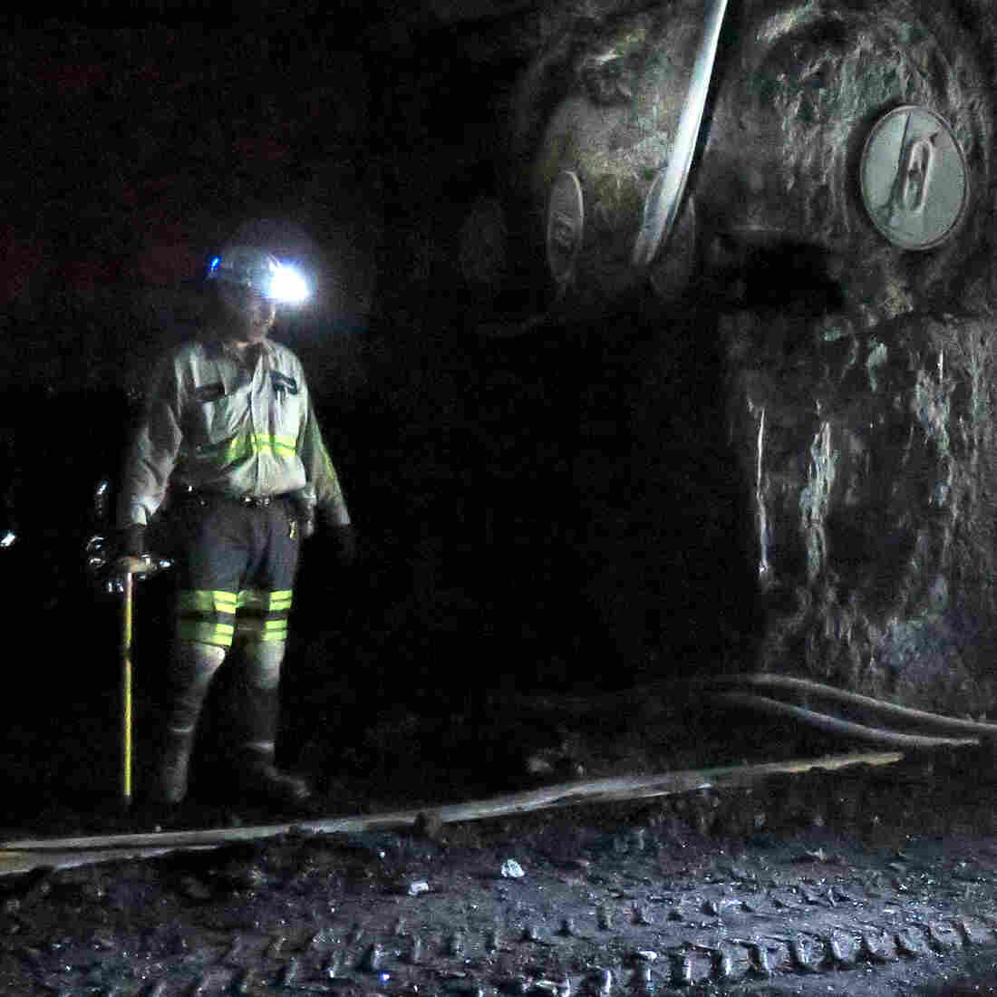 A coal miner stands in the Dotiki mine, operated by Alliance Coal, in Webster County, Ky.