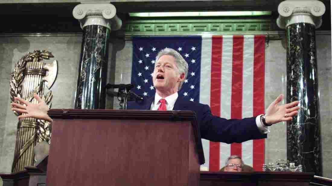 President Bill Clinton's final State of the Union set a record at one hour and 29 minutes. Clinton dwelt primarily on improvements made in the economy during his administration.