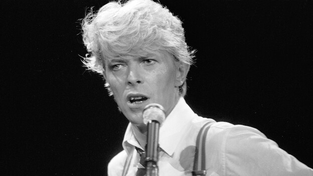 David Bowie performs at Wembley Arena in London in 1983. (Redferns/Getty Images)