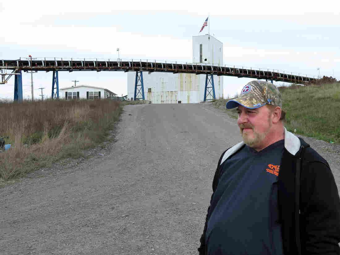 Joe Moore, outside the mine where he used to work. It closed last week.