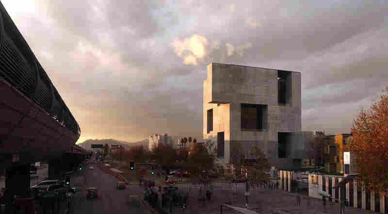 "UC Innovation Center, San Joaquín Campus, Universidad Católica de Chile, 2014: ""We proposed a rather opaque construction toward the outside, which is also efficient for the Santiago weather, and then have a very permeable architecture inside,"" Aravena says."