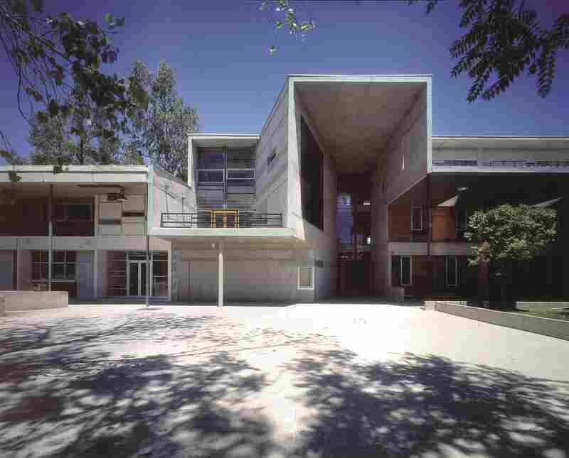 "Mathematics School, Universidad Católica de Chile, 1999: ""We identified the corridor as a design opportunity — as the moment where you see other people before they disappear into the isolated retreat of the individual working unit,"" Aravena says."