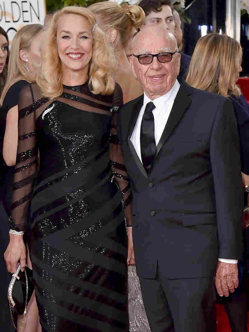 Jerry Hall and Rupert Murdoch, seen here arriving at the Golden Globe Awards in Beverly Hills, Calif., Sunday, are engaged to be married.
