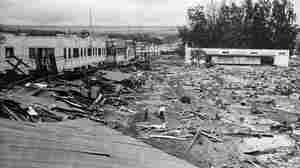 Part of the main street in Hilo, Hawaii, was flattened by a tsunami in April 1946. That big wave was triggered by a quake near the Aleutian Islands, where the edges of two tectonic plates continue to collide.