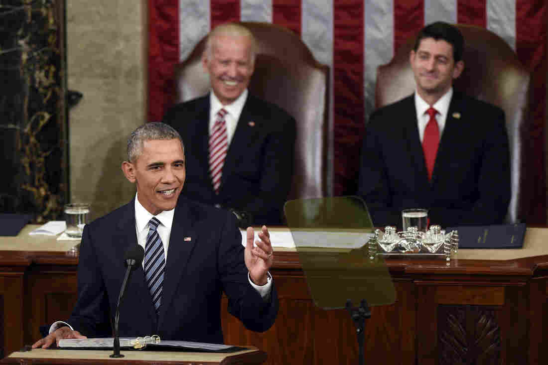 President Obama gives his State of the Union address in Washington on Tuesday.