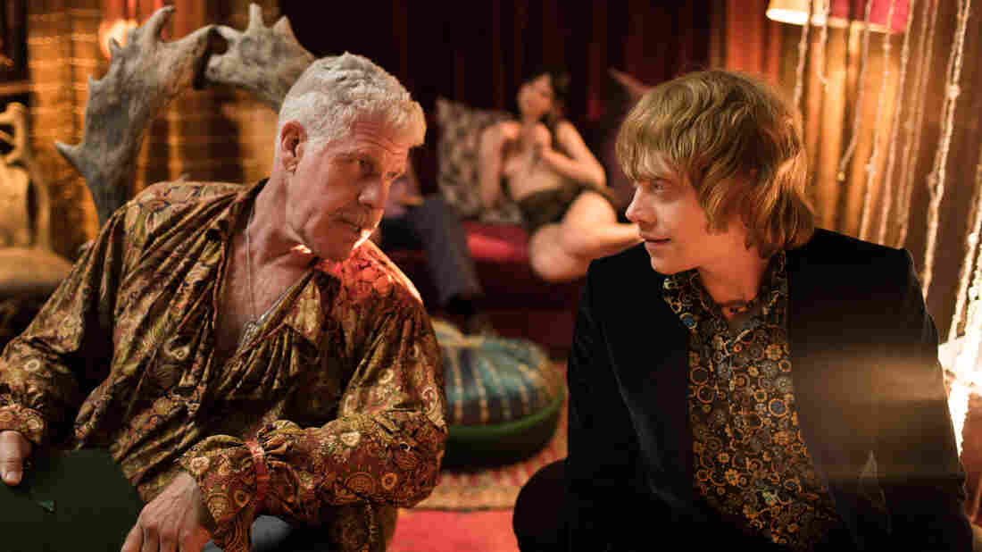 Ron Perlman and Rupert Grint in a scene from Moonwalkers.