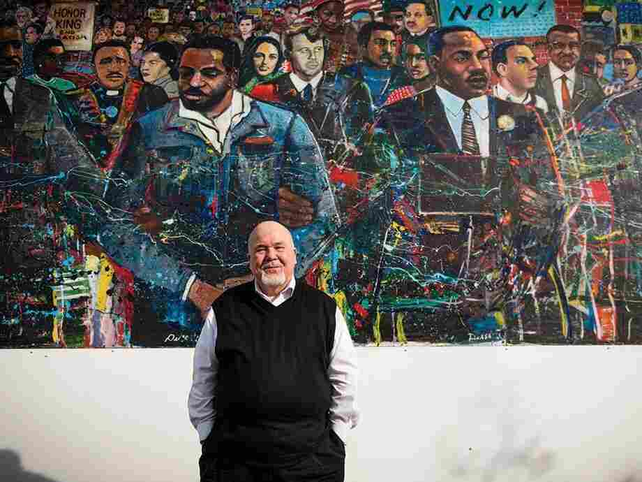 Tom Houck, standing in front of a mural at the Martin Luther King Jr. National Historic Site in Atlanta.