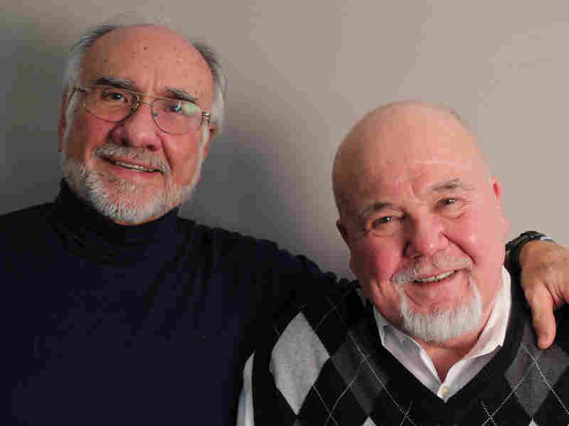 Tom Houck (right), with friend Angelo Fuster on a recent visit with StoryCorps.