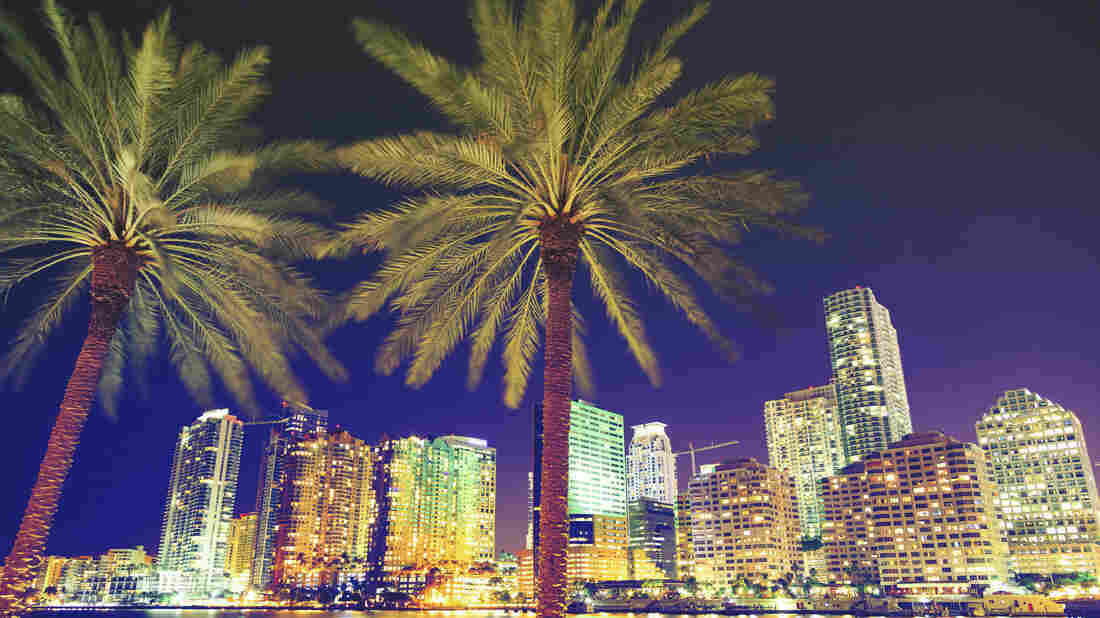 Downtown Miami by night.