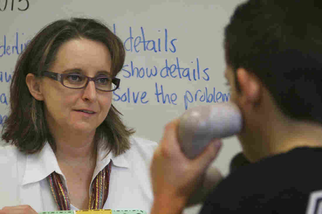 There are shortages of special education teachers all over Idaho. Some teachers though, like Amy Griffin, a Resource Room teacher at Liberty Elementary School in Boise, Idaho, plan to make a career of it.