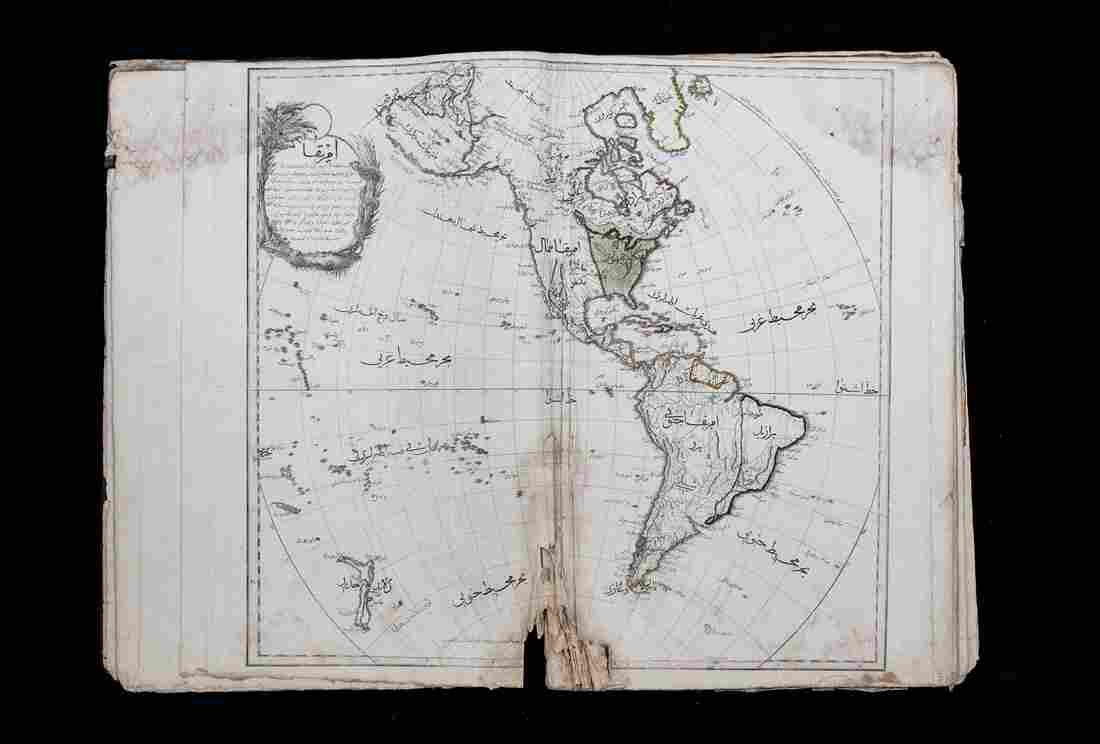 The Cedid Atlas Turcumesi, or New Atlas, drew on William Faden's General Atlas for cartographic details, according to the Library of Congress.