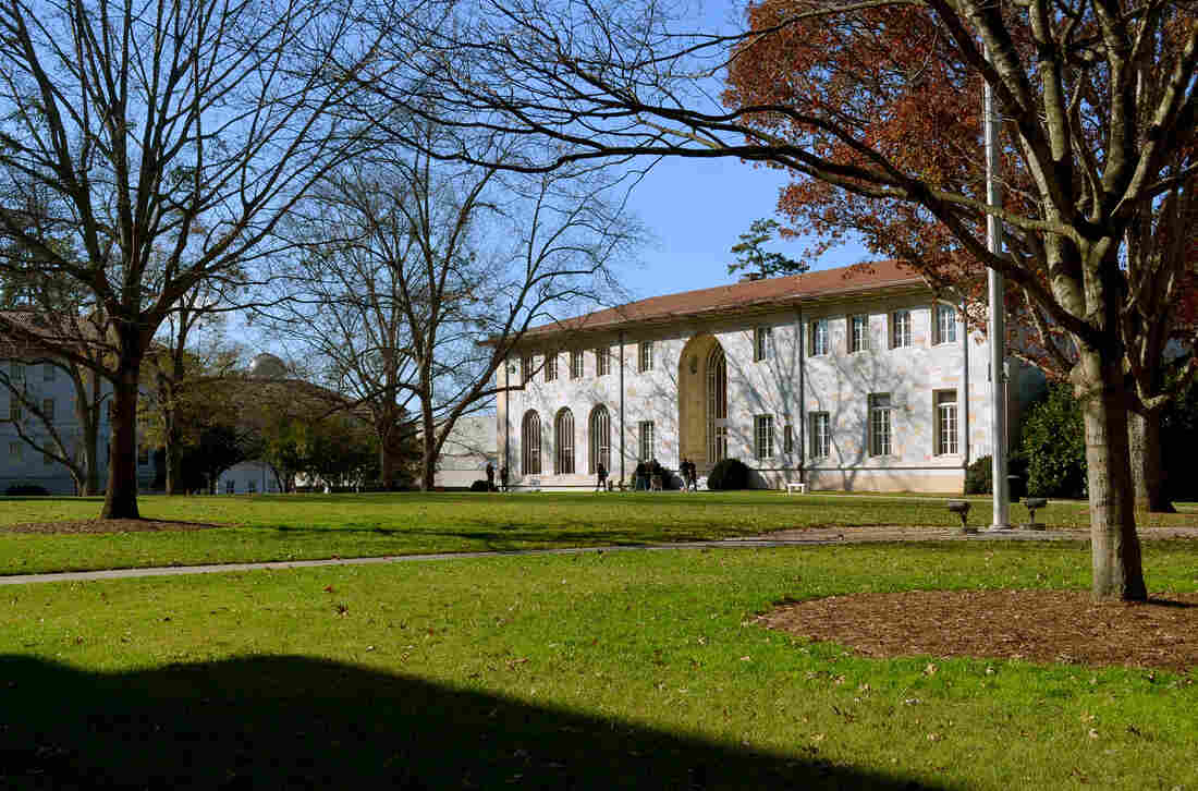 The main quad on Emory University's primary Druid Hills campus. Students have requested that Emory ask Yik Yak for a geofence that would block the app around the university and its Oxford College campus.