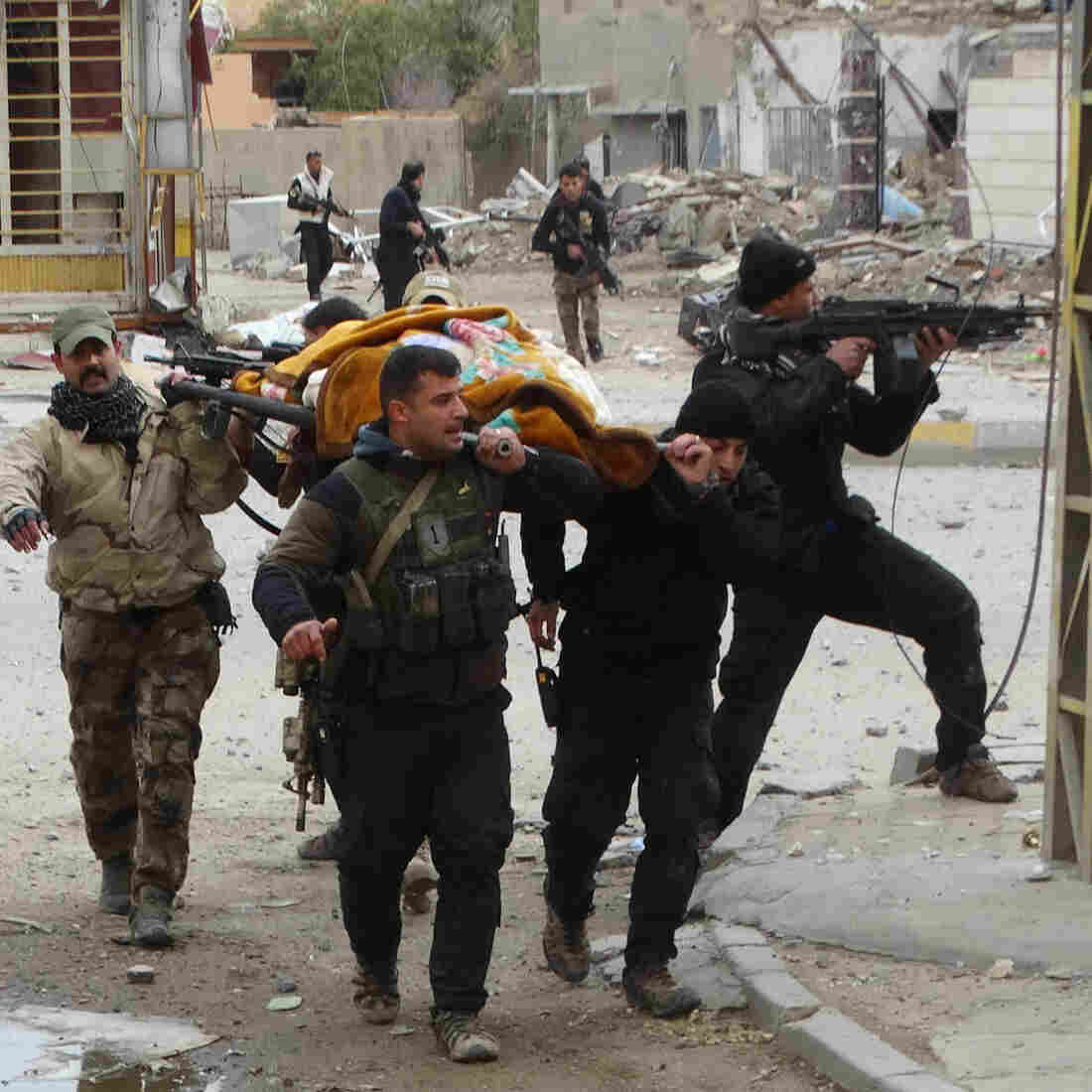 In Shattered Ramadi, A Weakened ISIS Fights On Behind Human Shields