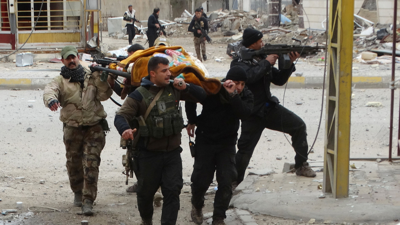 In Shattered Ramadi, A Weakened ISIS Fights On Behind Human
