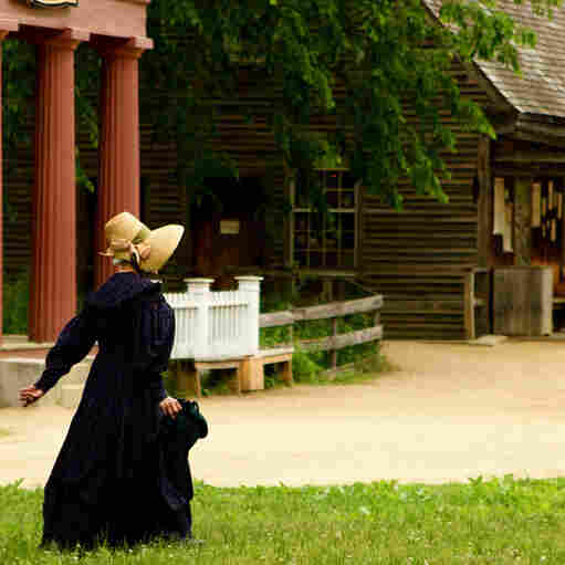 Traditional clothing at Old Sturbridge Village in Massachusetts.