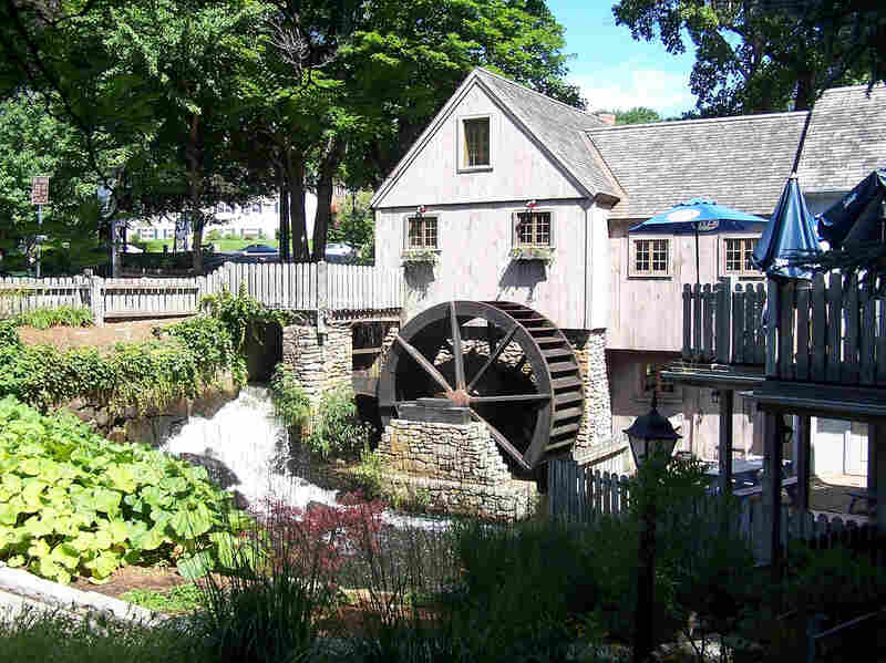 Gristmill at Plimouth Plantation in Massachusetts.