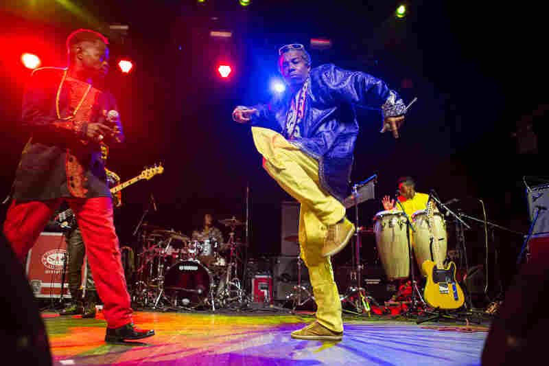 Colombia's Afro-Champeta champions Tribu Baharu set off a dance party during their globalFEST performance, at New York City's Webster Hall on Jan. 17, 2016.
