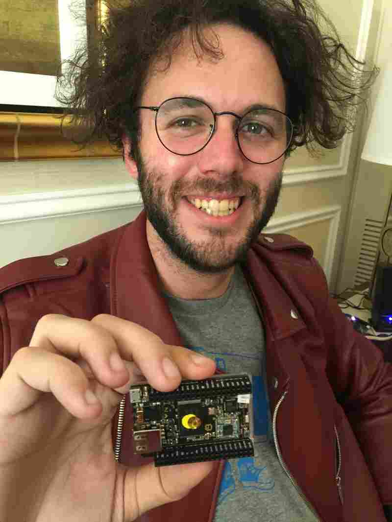 Dave Rauchwerk, CEO of Next Thing Co., which makes the CHIP computer.