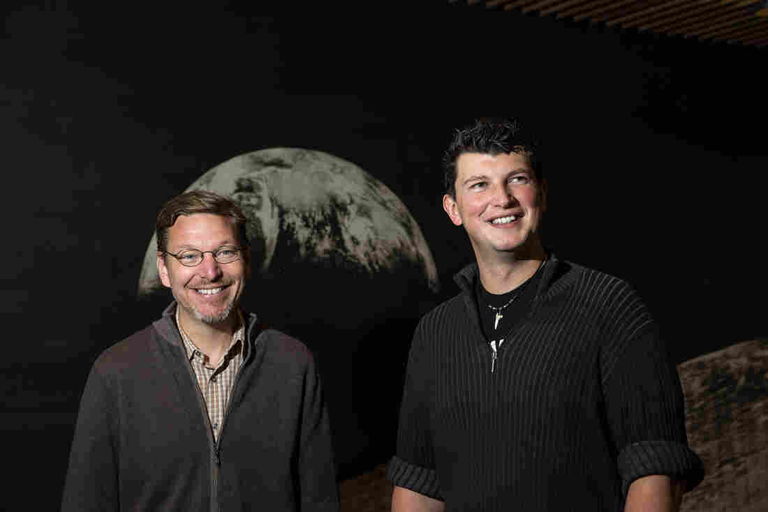 """Caltech astronomers Mike Brown (left) and Konstantin Batygin are """"willing to take bets"""" that a giant ninth planet is lurking in our solar system — way, way out, beyond Neptune."""