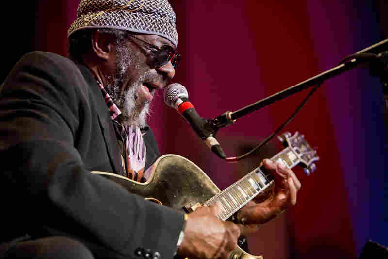 "James ""Blood"" Ulmer performed a solo set of borderless, floating blues."