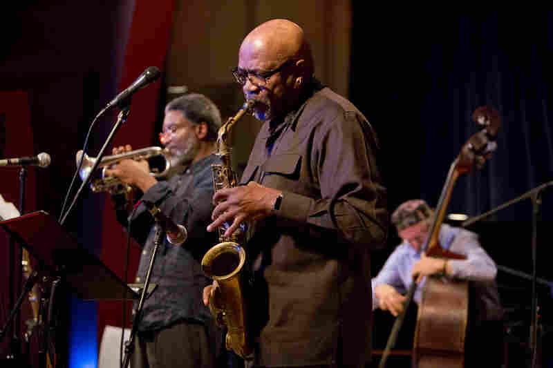 Saxophonist Oliver Lake, cornetist Graham Haynes, bassist Joe Fonda and drummer Barry Altschul performed together as the OGJB Quartet.
