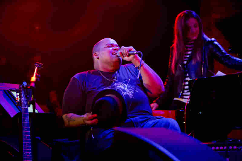 Toshi Reagon teamed with drummer Allison Miller in a group they call Holler & Bam.