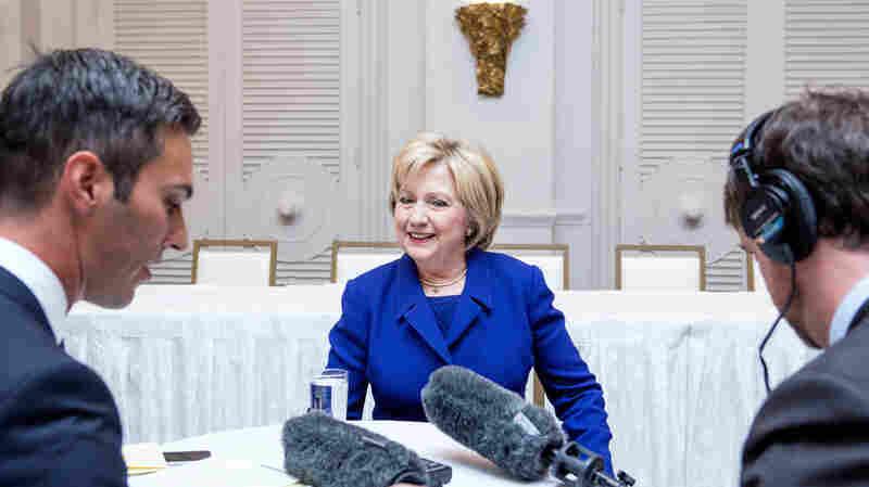 All Things Considered host Ari Shapiro interviewed Hillary Clinton today in San Antonio, Texas