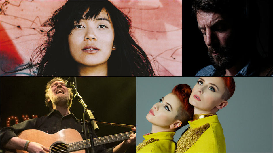 Clockwise from upper left: Thao & The Get Down Stay Down, Ray LaMontagne, Lucius, Glen Hansard (Courtesy of the artists)