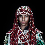 """Three photographs in Leila Alaoui's project titled """"The Moroccans."""""""
