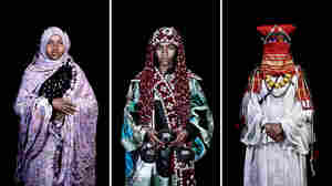 "Three photographs in Leila Alaoui's project titled ""The Moroccans."""