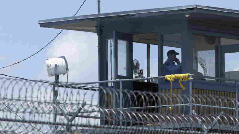A guard stands watch in a tower at the Arkansas Department of Corrections Tucker Unit near Tucker.