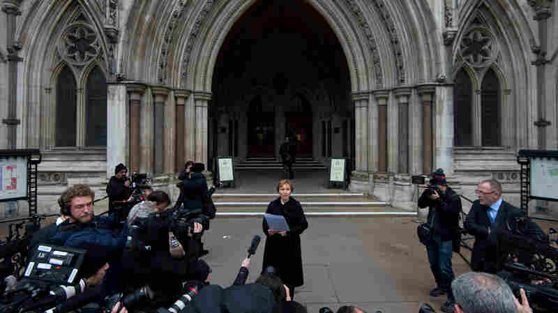 Marina Litvinenko, whose husband died in 2006 after being poisoned, spoke to the media after a British court issued a report saying Alexander Litvinenko had been murdered.