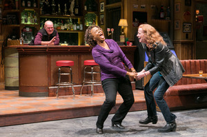 Nottage spent two years getting to know Reading residents as she was writing the characters in Sweat. (Above) Jack Willis as Stan, Kimberly Scott as Cynthia and Johanna Day as Tracey.
