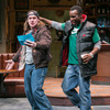 "In Lynn Nottage's play Sweat,  Jason (Stephen Michael Spencer, left) and Chris (Tramell Tillman) are workers at a steel tubing plant in Reading, Pa. Nottage says she wanted to write about ""how poverty and economic stagnation were shifting the American narrative."""