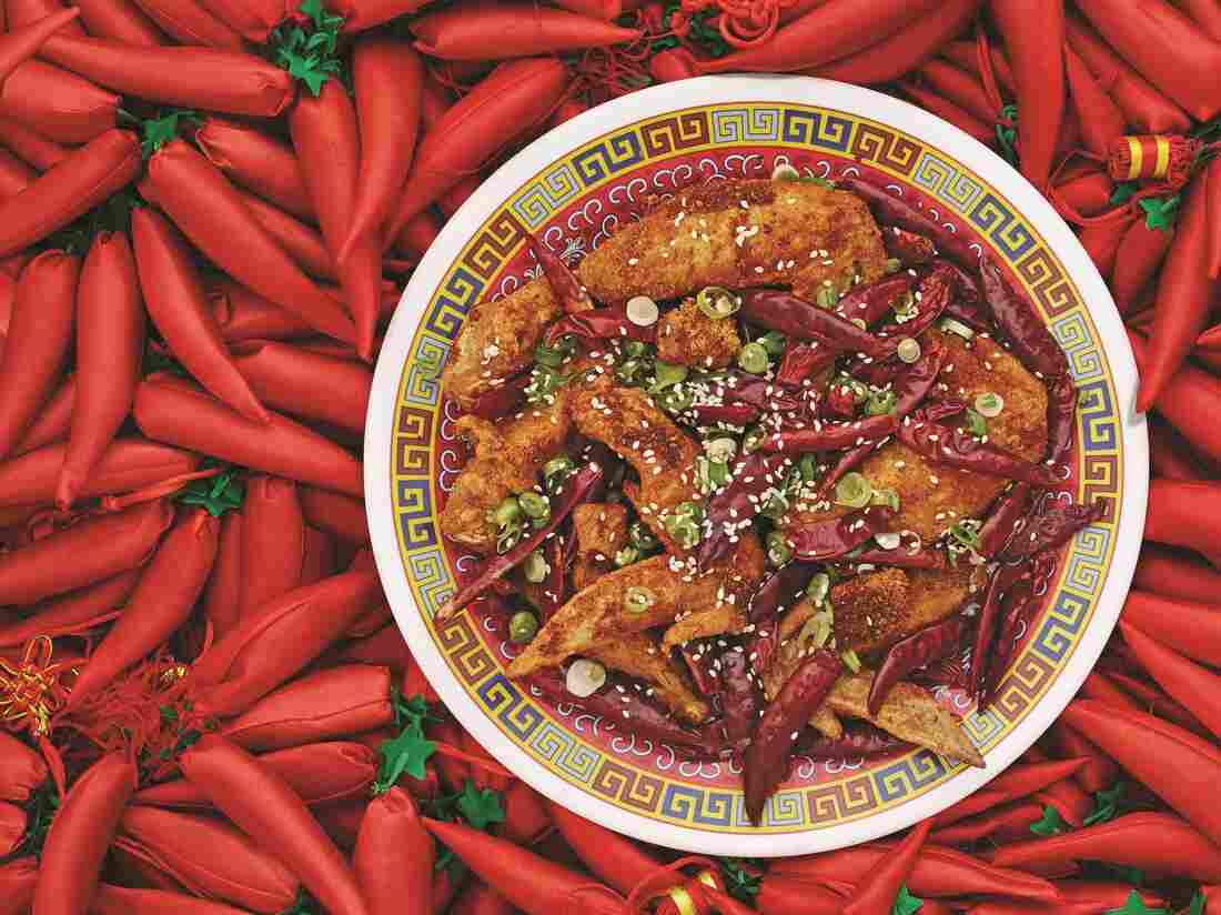 """Danny Bowien says Sichuanese cuisine is """"really about balance and restraint and not having things be over-the-top spicy."""" Bowien's Chongqing Chicken Wings, featured in The Mission Chinese Cookbook, are pictured above."""