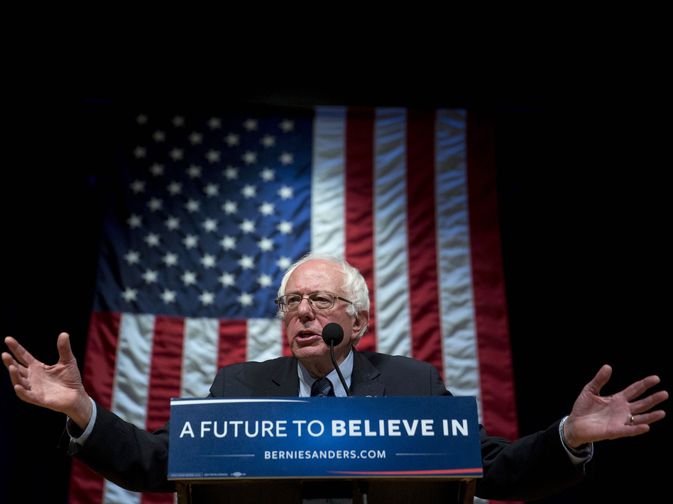 Sen. Bernie Sanders, the independent from Vermont, has made a particular form of health care finance part of his campaign pitch. (Andrew Harrer/Bloomberg via Getty Images)