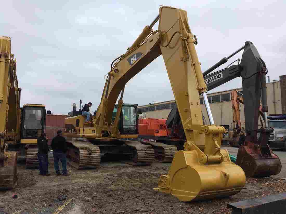 A Cat 345C L Excavator, aka a big digging machine