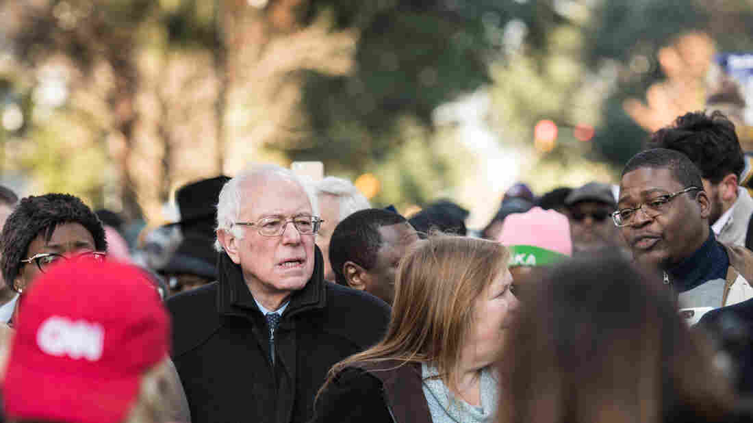 Bernie Sanders at the King Day at the Dome earlier this month in Columbia, S.C.