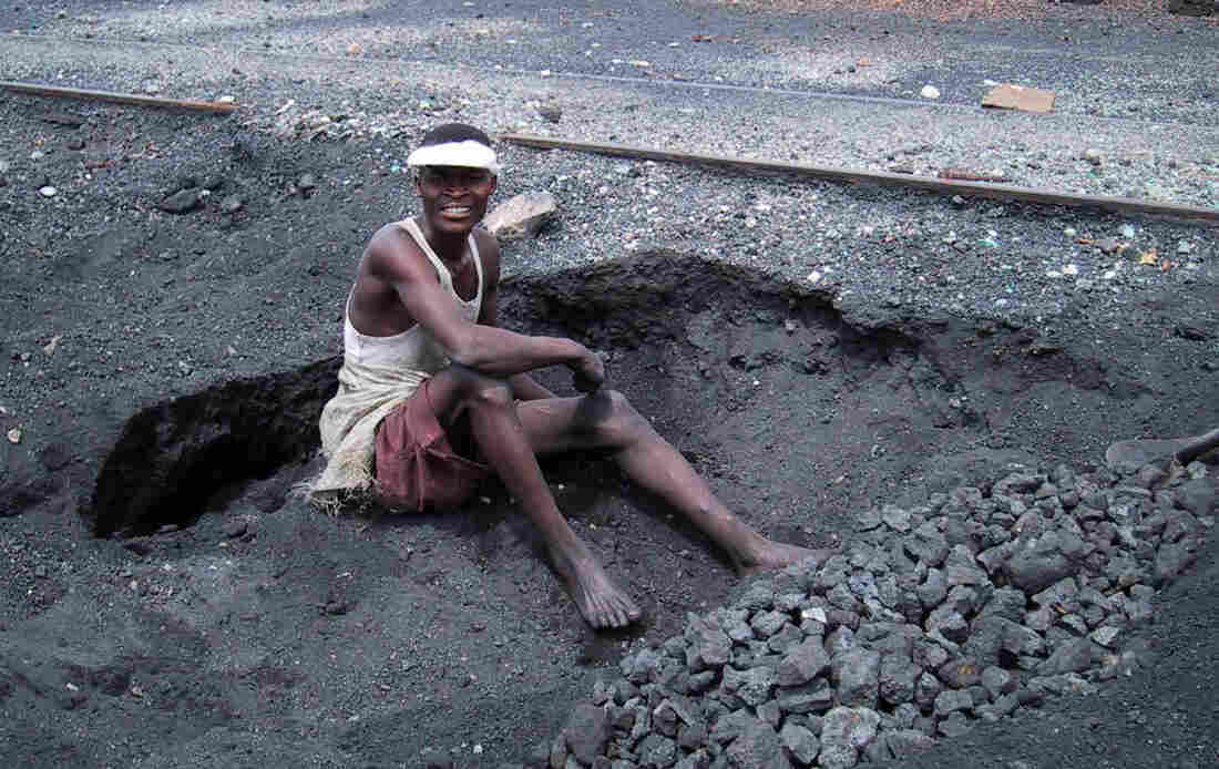 Looking for scraps of lead to sell, young people in the town of Kabwe dig through the toxic tailings left behind from 100 years of mining.