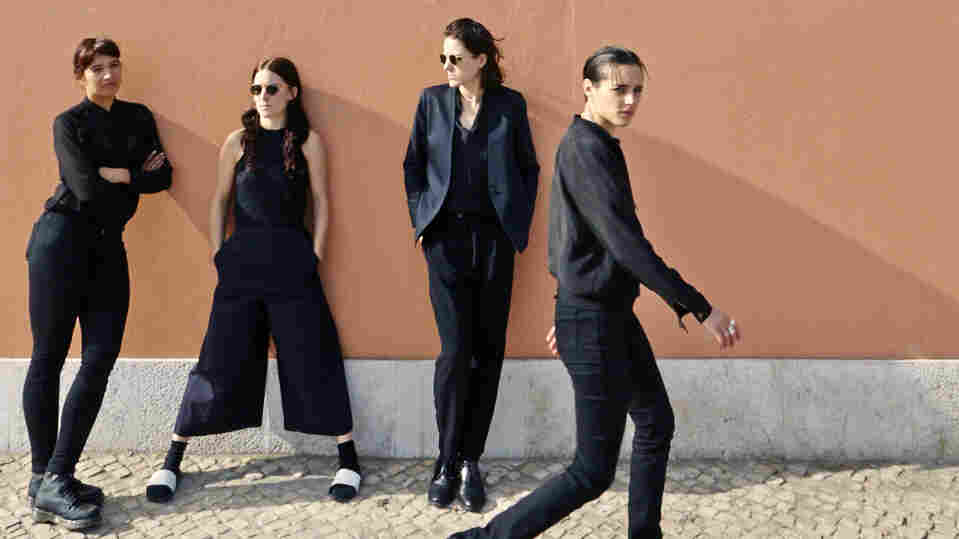 Savages, left to right: AysŸe Hassan, Fay Milton, Gemma Thompson, Jehnny Beth.