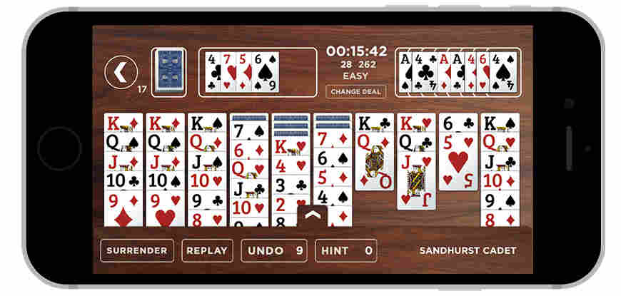 A new app based on Winston Churchill's tweak on Solitaire was designed with the help of Donald Rumsfeld.