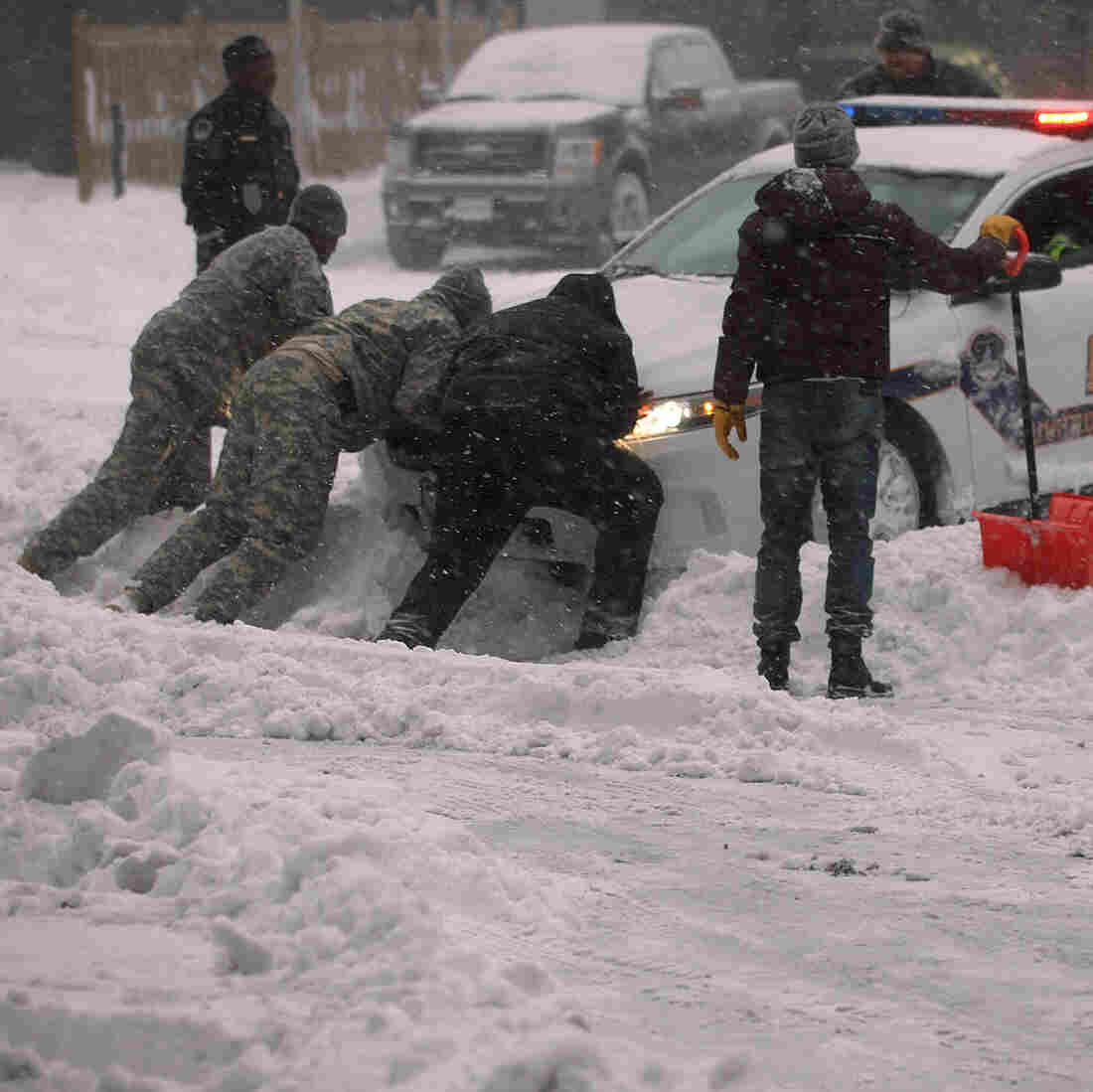 Much Of East Coast Paralyzed As Massive Winter Storm Continues