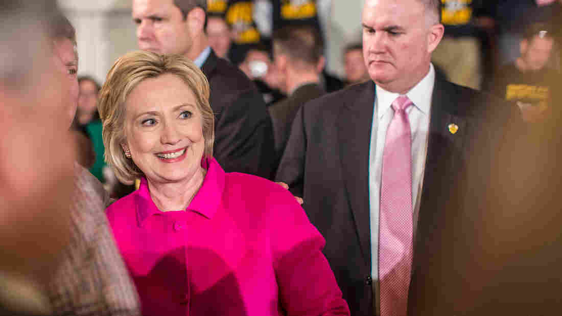 Hillary Clinton at a campaign event in Davenport, Iowa. Clinton has seen the race in Iowa tighten but is hoping for a boost from the endorsement of the state's largest newspaper.