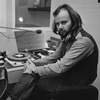 John Peel in the studio at the BBC in 1972.