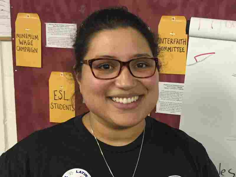 Vitalina Nova, 30, moved to Iowa in September. As a second-generation Latina, she wants to make sure more Latinos participate in the caucuses.