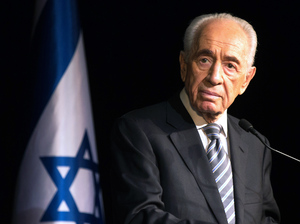 "Israeli President Shimon Peres addresses members of the Foreign Press Association during a visit to the southern Israeli town of Sderot in July 2014, following Palestinian rocket attacks on the city. Peres, who would go on to retire at the end of that month, said, ""I'm retiring from the post of president but I am not retiring for the battle for peace."""