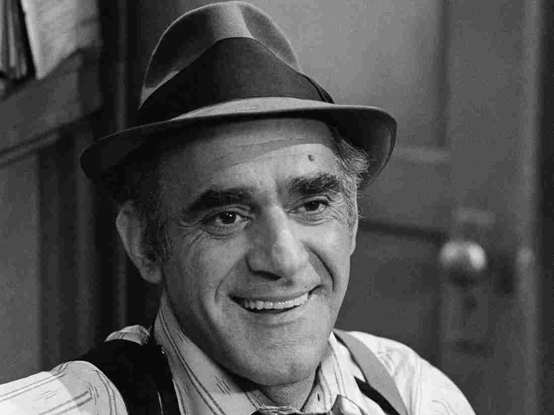 Actor Abe Vigoda, shown in character in 1977 as Detective Fish in Barney Miller.