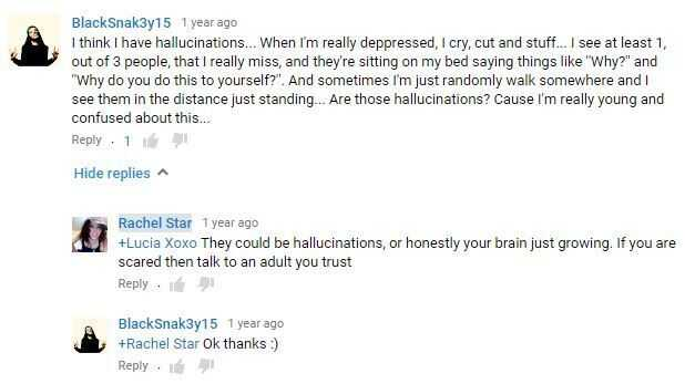 Comment on a video uploaded by Rachel Star Withers