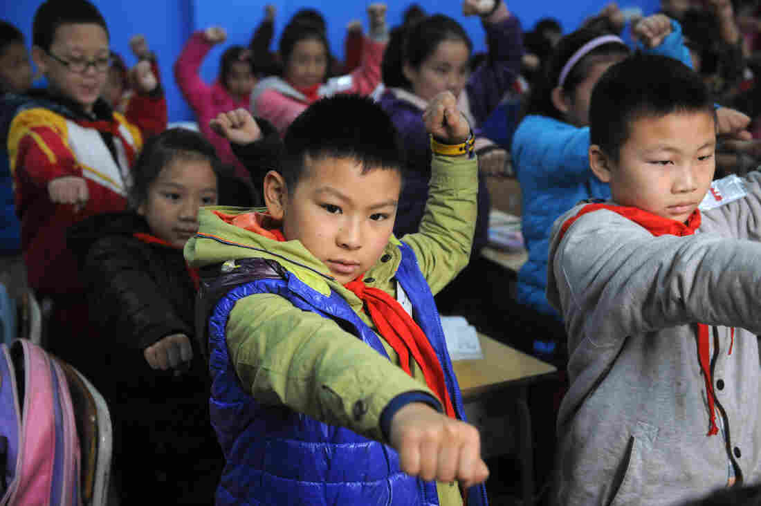 China is one of the countries where childhood mortality is dropping. Above, students practice martial arts.
