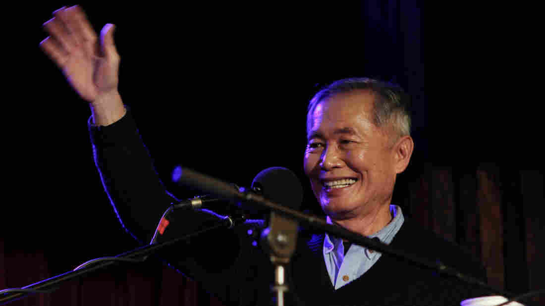 Actor George Takei appears on Ask Me Another at The Bell House in Brooklyn, New York.